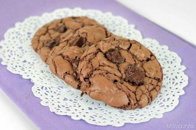 Dark chocolate cookies - Ricetta Dark chocolate cookies di Misya