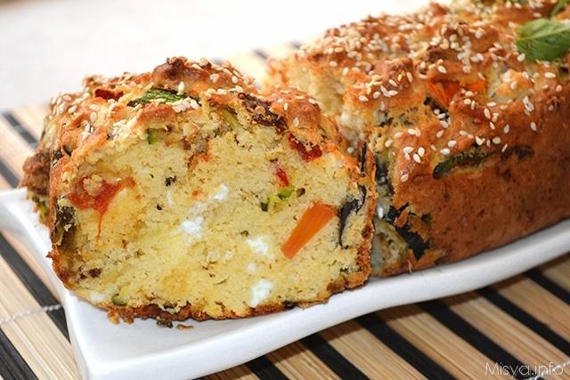 Plumcake salato alle verdure-2