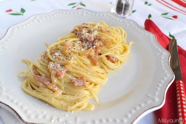 Spaghetti alla carbonara ricetta spaghetti alla for Primi piatti di pasta