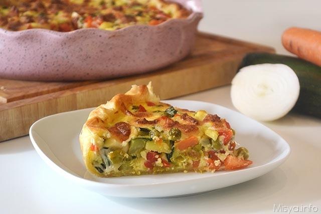 Torta salata alle verdure ricetta torta salata alle for Torte salate con pasta sfoglia