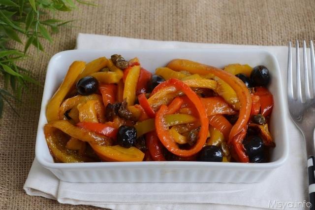 Peperoni in padella ricetta peperoni in padella di misya - Cucinare olive appena raccolte ...