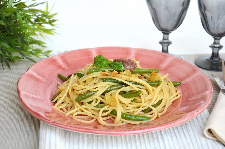 Pasta con fagiolini ricetta pasta con fagiolini di misya for Spaghetti ricette