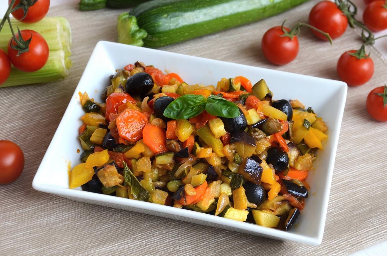 Caponata di verdure ricetta caponata di verdure di misya for Ricette cibo
