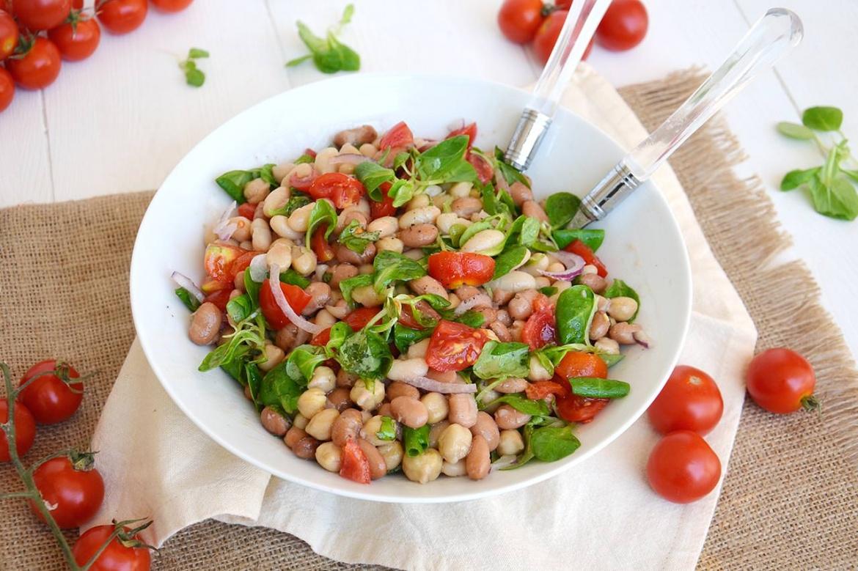 Insalata di legumi ricetta insalata di legumi di misya for Insalate ricette