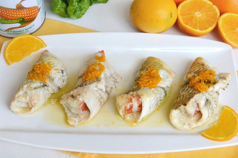 Involtini di platessa all arancia ricetta involtini di for Ricette di pesce