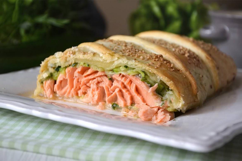 Salmone in crosta ricetta salmone in crosta di misya - Pagina di colorazione del pesce ...