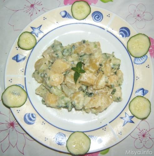 insalata di patate con tzatziki