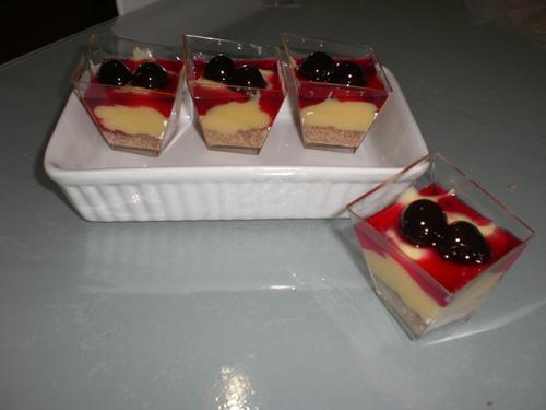 Dessert alla crema amarena e gianduia - Ricetta Dessert alla crema
