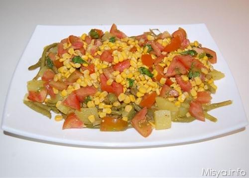 insalata di patate e fagiolini