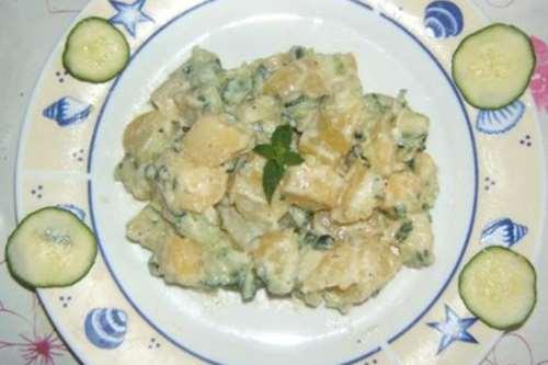 Insalate ricette Insalata di patate con tzatziki