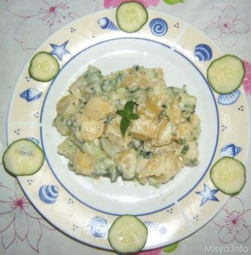 greche ricette Insalata di patate con tzatziki