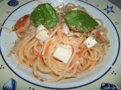 Ricette Primi piatti Spaghetti alla caprese