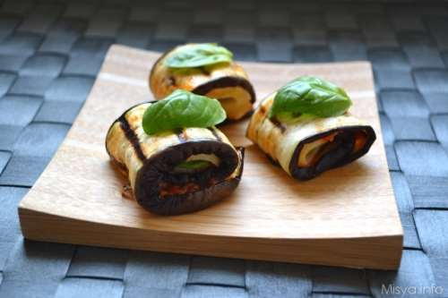 light ricette Involtini di melanzane