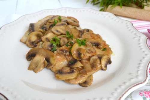 ricette Scaloppine ai funghi