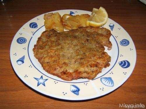 Vitello in crosta di patate e funghi