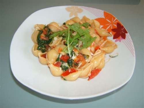 ricette Pasta rucola e pomodorini