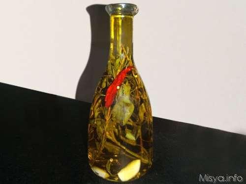 Conserve ricette Olio aromatico