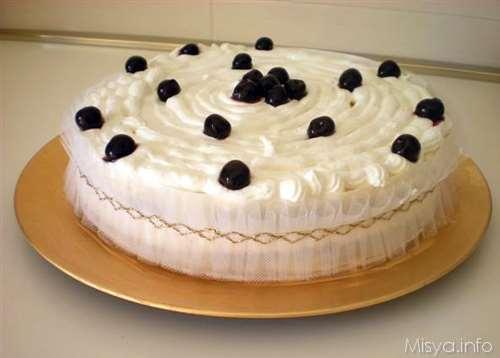 Torta crema e amarene