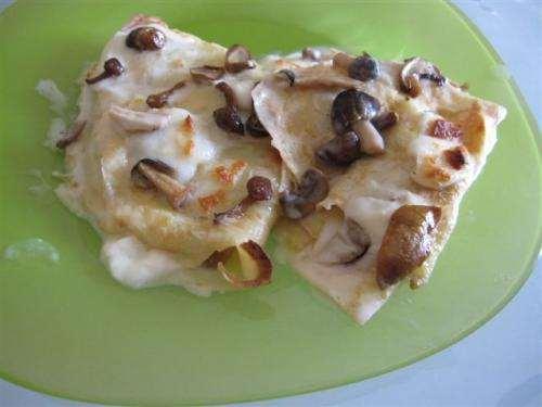 Vegetariane ricette Crespelle ai funghi