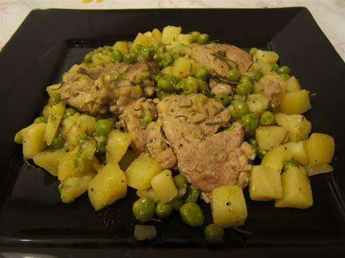 Spezzatino patate e piselli
