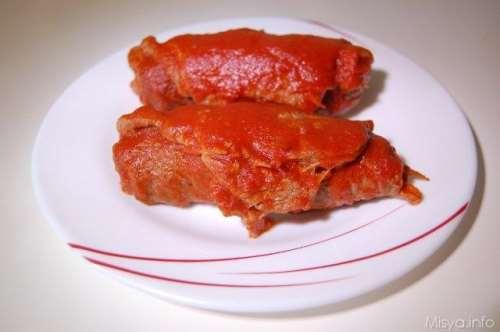 Secondi piatti ricette Braciole napoletane al sugo