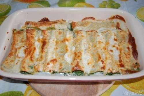 ricette Cannelloni ricotta e spinaci