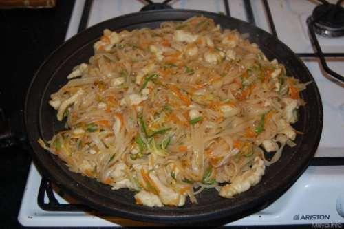 Spaghetti alla piastra