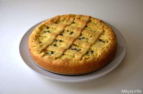 ricette Crostata con ricotta e gocce di cioccolato