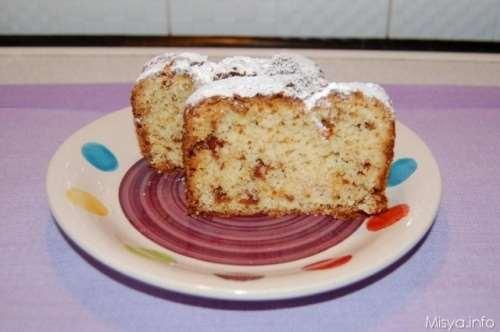 Plumcake agli amaretti e cioccolato bianco