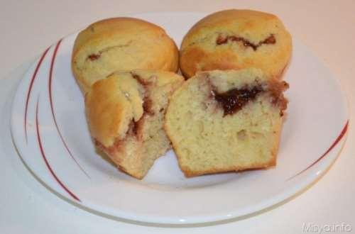Ricette Muffin Muffin con cuore di marmellata