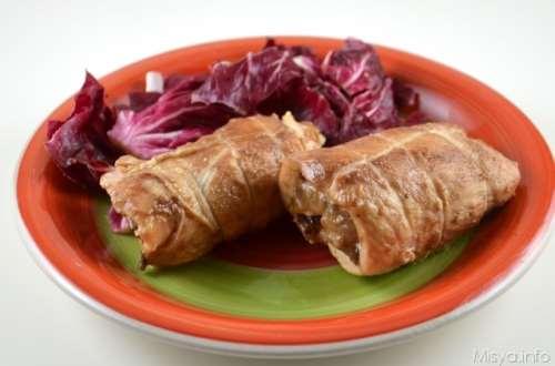ricette Involtini di pollo al radicchio
