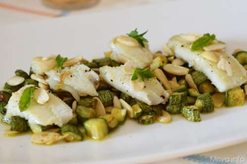 Ricette  Filetti di platessa con zucchine