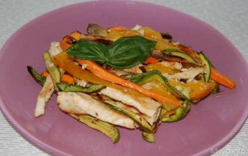 Ricette  Insalata di pollo con verdure grigliate