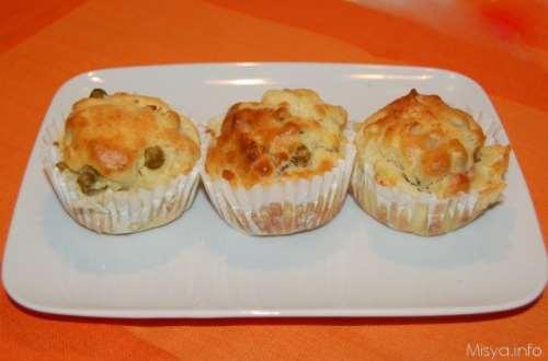 Ricette  Muffin salati ai piselli