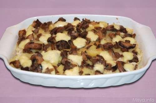ricette Teglia di patate funghi e brie