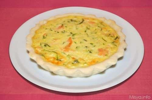 Ricette Torte salate Quiche salmone e zucchine
