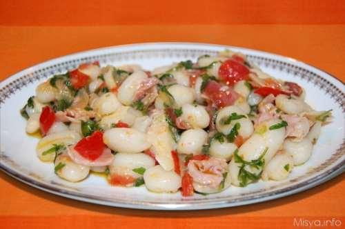 Gnocchi prosciutto rucola e parmigiano