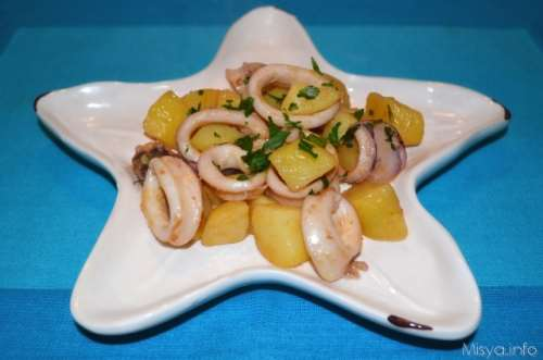 ricette Calamari e patate