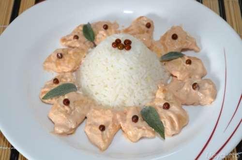 ricette Pollo al pepe rosa