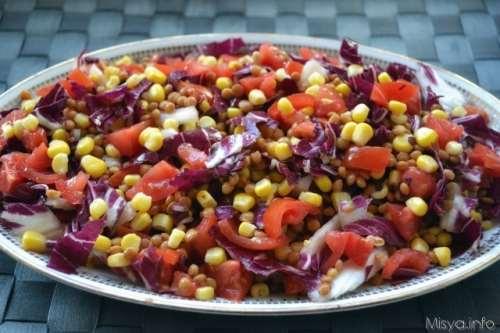 Insalate ricette Insalata di lenticchie e radicchio