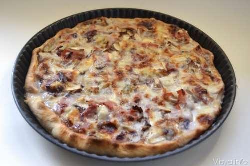 ricette Torta salata radicchio e gorgonzola