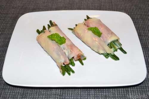 ricette Fagiolini avvolti nel prosciutto