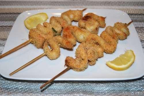 ricette Spiedini di calamari