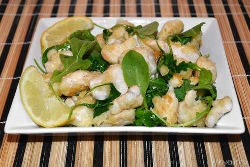 ricette Straccetti di pollo limone e rucola