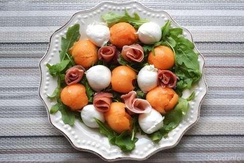 Ricette  Insalata di melone e prosciutto