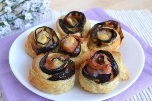 Ricette Finger food Rose di melanzane