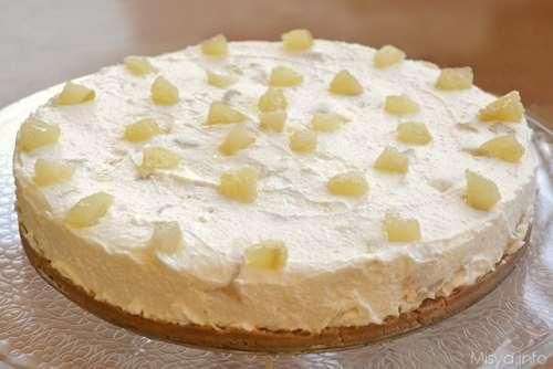 Cheesecake ricotta e pere