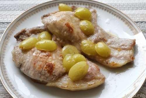 Ricette  Costolette di maiale all'uva