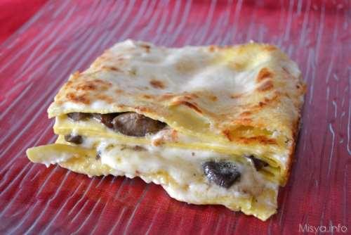 ricette Lasagne ai funghi e formaggi