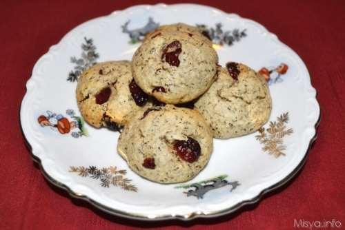 Biscotti con grano saraceno e mirtilli rossi